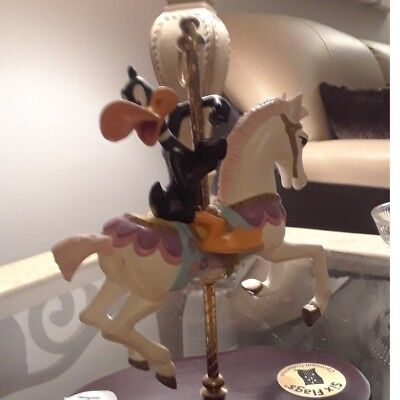 Daffy Duck Riding Carousel Horse 1997 Six Flags Parks Warner Bros Music Box Wow!