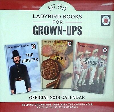 Ladybird Books For Grown-Ups Official 2018 Square Wall Calendar 9781785493621