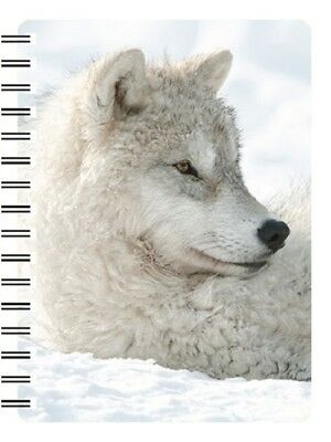 ARTIC WOLF IN SNOW 3D NOTEBOOK, PAD ORGANISER, Ideal Christmas stocking filler