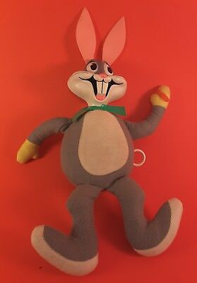 1971 Mattel Bugs Bunny Pull String Doll Toy Warner Brothers Talking Toy