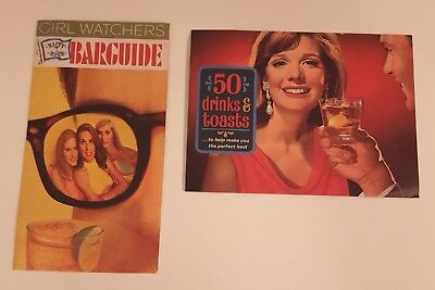 Vintage 1970's Barguide 50 Drinks & Toasts Booklets Alcohol Recipes - 2 items