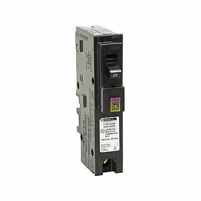 Square D by Schneider Electric HOM120PDFC Homeline Plug-On Neutral 20 Amp Sin...
