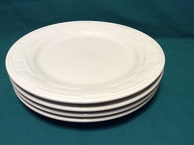 "4 PC IVORY Dinnerware Dinner Plate 10"" diameter Longaberger IN HAND"