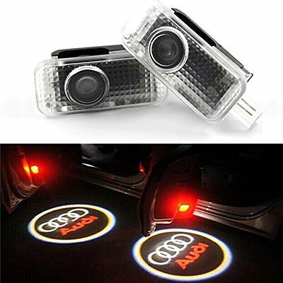 UK CREE LED Laser Projector Logo For AUDI Door Courtesy Puddle Shadow Light Lamp