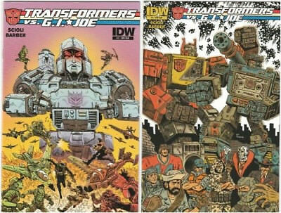 Transformers vs G.I. Joe #1 & #2 set Subscription Variants NM 2014 IDW Comics
