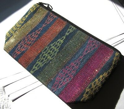 Colorful New Guatemalan Expandable Bottom Zipper Lined Cosmetic Pouch/clutch*