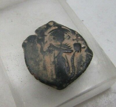 Arab Byzantine Ae Fals Psuedo Emperor Facing Left 631-650Ad