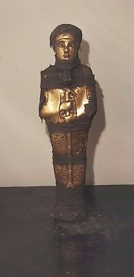 Rare Antique Ancient Egyptian Statue God Ptah water Gold Magic stick1760-1680BC