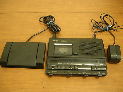Sanyo TRC-6040 with pedal and power adapter