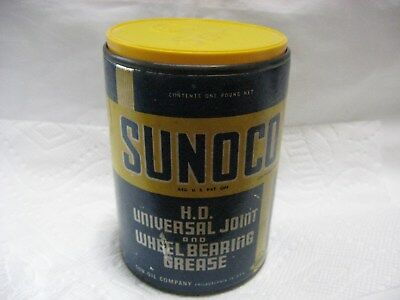 Vintage Sun Oil Company Sunoco Grease Can Station Sign Pump Old Garage Antique