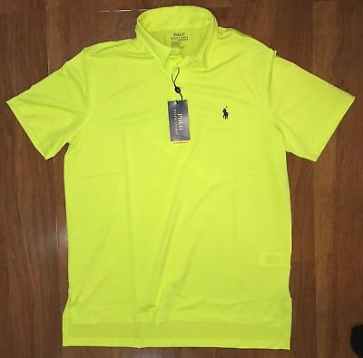 991a67776a MENS POLO RALPH Lauren Performance Lisle Polo Shirt Lemon New With Tags  Medium