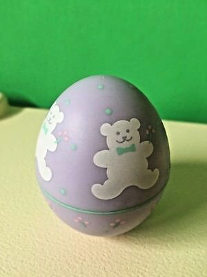 Hallmark Merry Miniature Easter Egg Teddy Bear Container