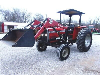 Massey Ferguson 383 Tractor & Loader  (low hours)  CAN SHIP @ $1.85 loaded mile