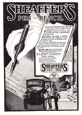 1920 Sheaffer's Pen Pencil: Always Writes All Ways Vintage Print Ad