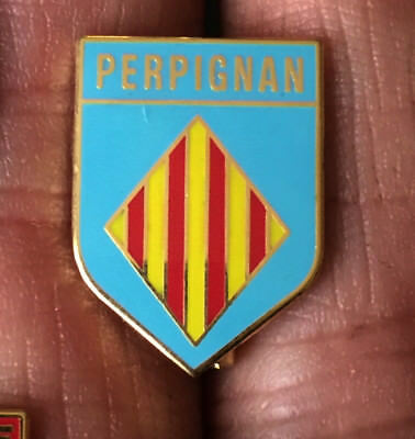Perpignan French Rugby Union Crest Enamel Pin Badge