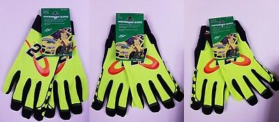 Paul Menard Performance Gloves - Menards Work Glove - Spandex - Leather Palm NEW