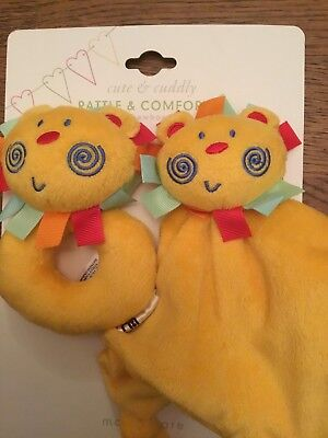 Mothercare Roll Up Roll Up Rattle & Comforter / Blankie Set. ** Brand New **