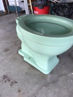 Antique CRANE Pale Jade Toilet Bowl (ONLY) Vintage