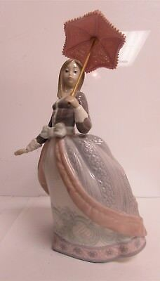 "Vintage Llardo #5211 Figurine ""Angela"" Girl With An Umbrella"