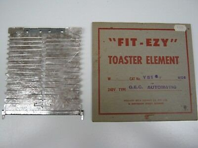 Vintage New Old Stock Toaster Replacement Element Fit Ezy Gec Side