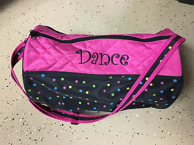 """Justice Dance Bag, New without tags, Embroidered, Personalized """"Rachael"""""""