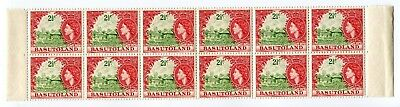 1961 Basutoland.  2½c yellow-green and deep rose-red.  Strip of 12 MUH.  SG 72.