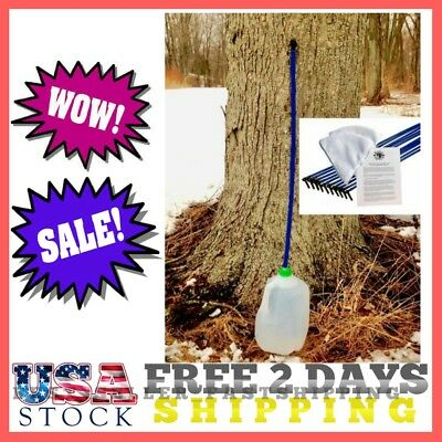 Maple Syrup Tree Tapping Kit - 10 Taps + (10) 3-Foot Drop Line Tubes + (2) 1-Qua