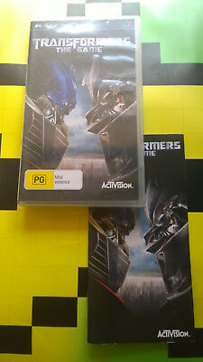 Sony Playstion Psp Transformers The Game  Videogame Video Game Free Postage