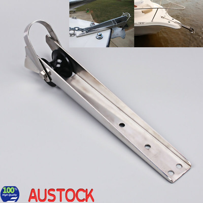 316 Stainless Steel Marine Boat Bow Anchor Self Launching Fixed Nylon Roller AU