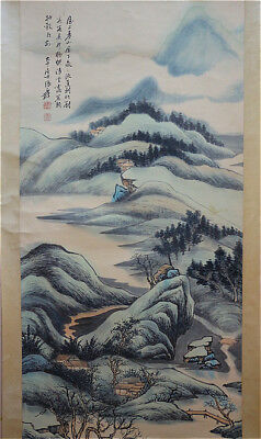 Excellent Chinese 100% Hand Painting & Scroll Landscape By Zhang Daqian 张大千 FYT6