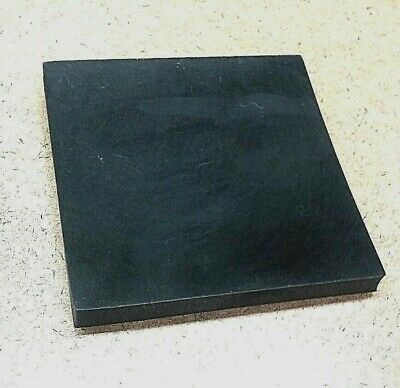 "Neoprene Rubber Sheet  Solid 1/2""Thk x 4-1/4"" Square - Mounting Pad  60 Duro Std"