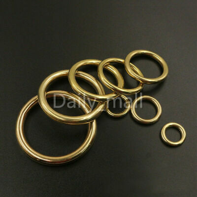 Solid Brass cast closed O rings Leather bag strap collars Crafts webbing 7-51mm