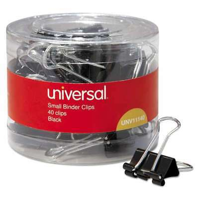"Universal® Small Binder Clips, 3/8"" Capacity, 3/4"" Wide, Black, 4 087547111406"