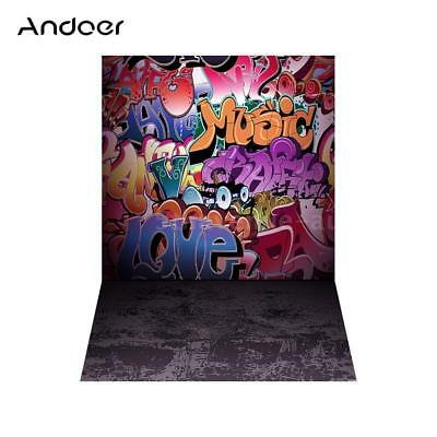 Andoer 5*7ft Street Graffiti Photography Background Backdrop Photo Studio Props