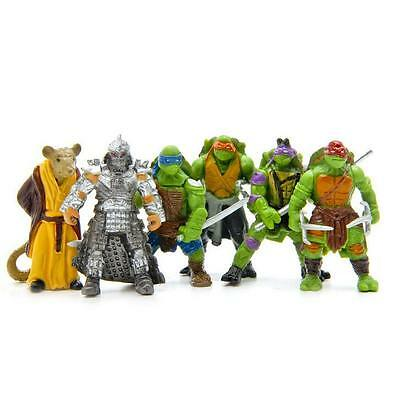 HOT 6Pcs Teenage Mutant Ninja Turtles TMNT Action Figures Collection Toys Set @2
