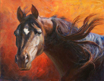 CHENPAT674 charme 100/% hand painted abstract fancy horse oil painting art canvas