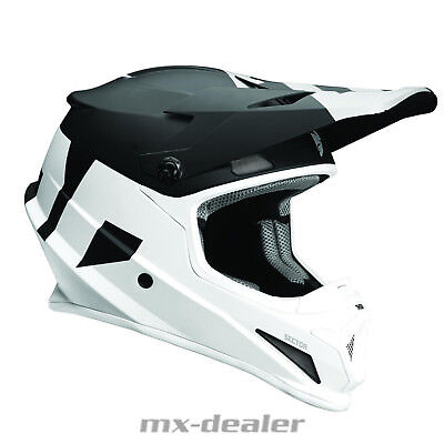 Thor MX Sector Level Schwarz Weiss Helm Crosshelm MX Motocross Cross