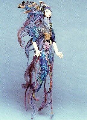 """*new* Cloth Art Doll (Paper) Pattern """"smoke"""" By Julie Mccullough"""