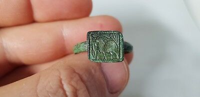 Medieval Ring with Ibex. 12th-13th century AD