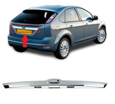 For Ford Focus Mk2 08-11 Rear Tailgate Boot Liftgate Strip Handle Chrome 1581833