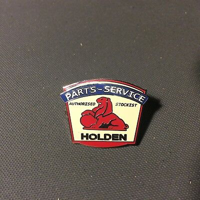 Leather Vest Jacket metal  PIN Badge HOLDEN PARTS SERVICE auto car classic
