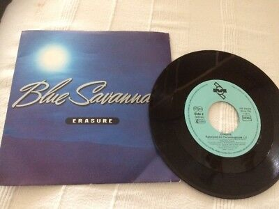 Erasure Blue Savannah Vinyl Single