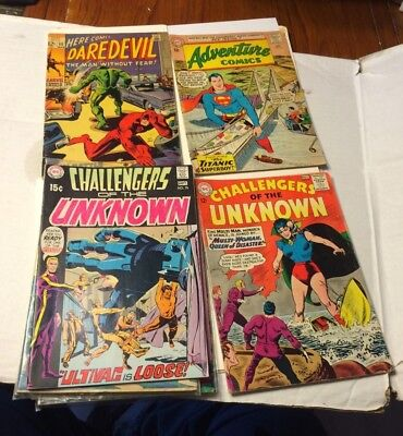 Silver Age & Other Vintage Comic Lot Of 10 Marvel DC & Other Comics