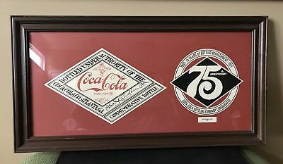 75th ANNIVERSARY CHATTANOOGA COCA-COLA BOTTLE COLLECTIBLE EXECUTIVE LABELS