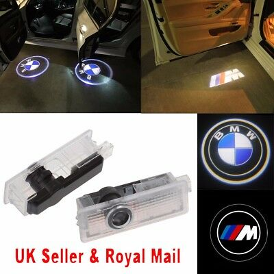 2/4 Cree LED Courtesy Laser Projector Logo Shadow Car Door Lights Lamps For BMW