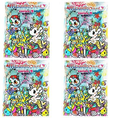4 Pack Tokidoki Mermicorno Series 2 Blind Box Vinyl Mini Figure