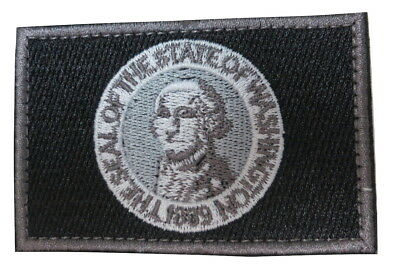Washington State Flag Embroidered Hook Loop Patch