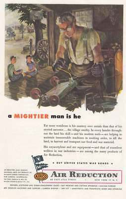 1945 Airco, Air Reduction: A Mightier Man Is He Vintage Print Ad