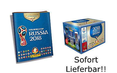 Panini WM 2018 Russia World Cup Sticker Album + 1 x Display - 100 Tüten