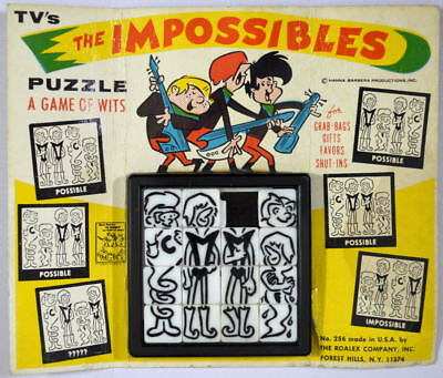 The IMPOSSIBLES ROALEX SLIDE PUZZLE 1960's Hanna Barbera MOC